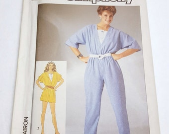 80's Loose Fitting Jumper / Jiffy Jumpsuit in Two Lengths / Simplicity 7330