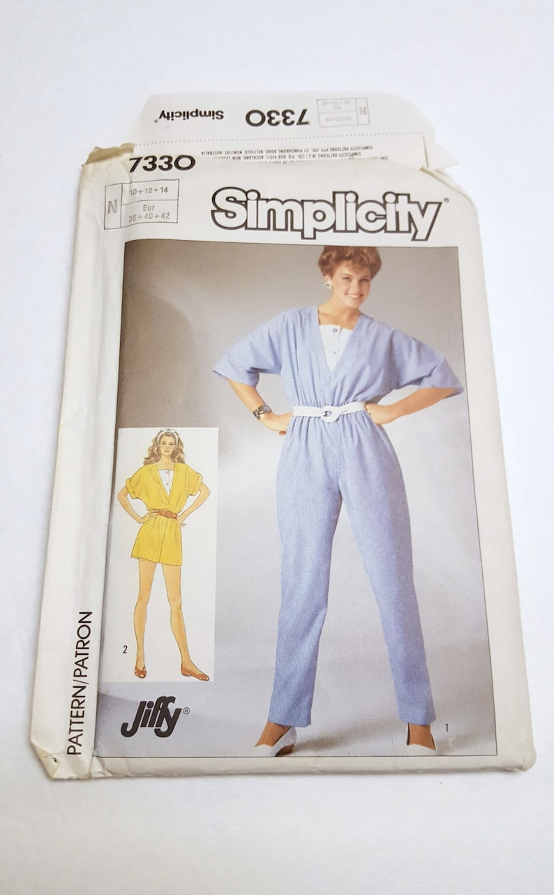 80's Loose Fitting Jumper / Jiffy Jumpsuit in Two Lengths image 0