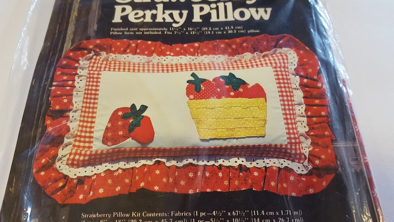 Strawberry Perky Pillow Kit / Vintage Sewing Pattern and image 0