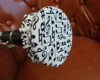"""Fabric Bell Cover for Clarinet Reversible and Washable """"Face Mask"""" for Clarinet"""