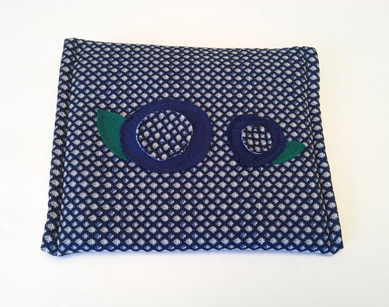 SALE Blue Envelope Clutch Purse / Pouch / Purse Organizer / image 0