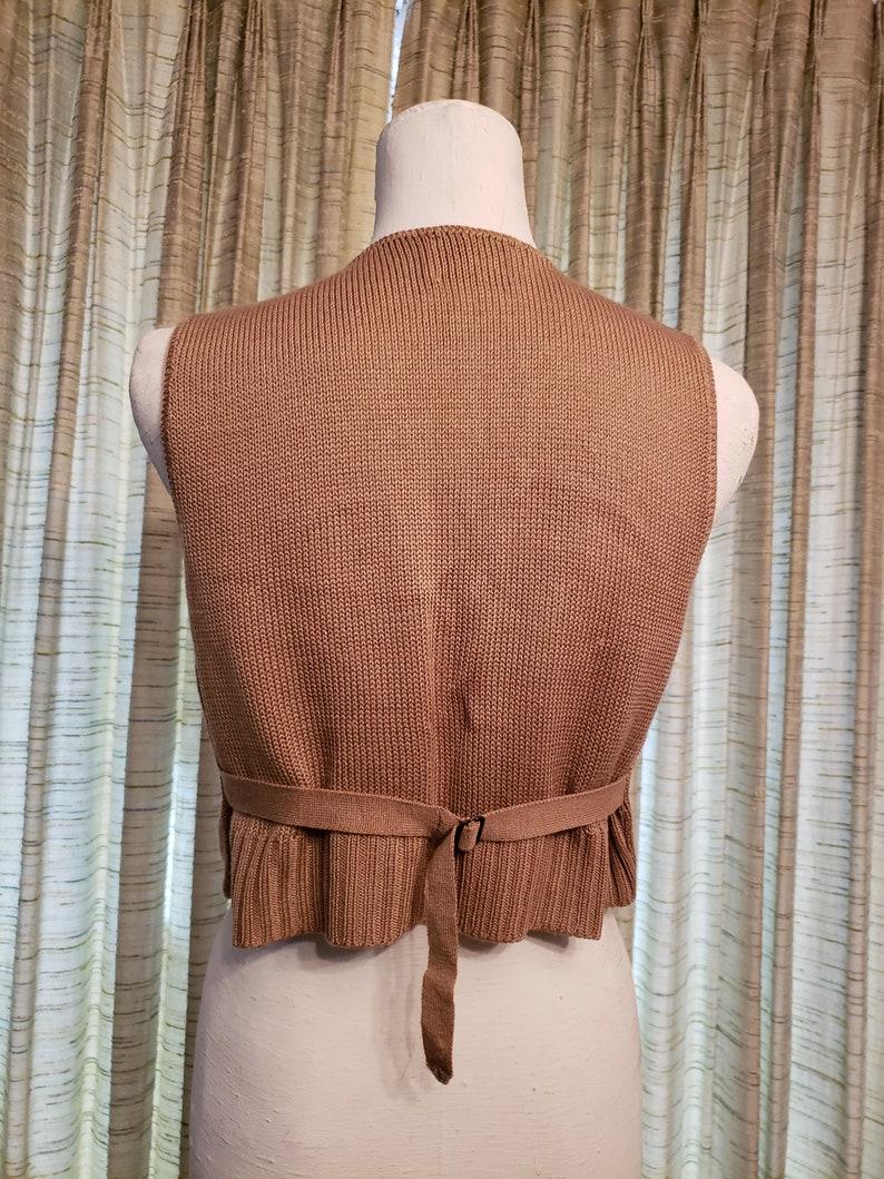 Ladies Cropped Gold Vest  Button Front Ladies Vest  it/'s pure gould acrylic vest
