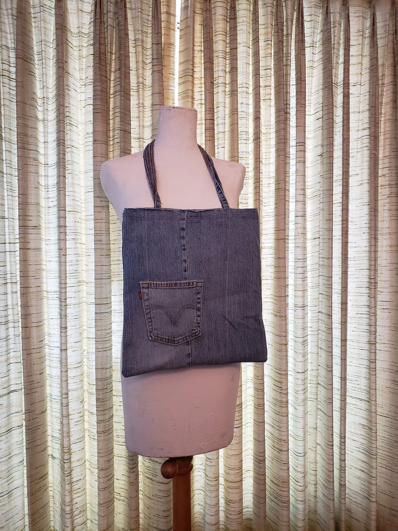 Summer Purse / Casual Bag / Recycled Denim Tote Bag / Levis image 0