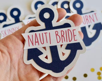Nautical Bachelorette Party Pins, Name Tags, Bachelorette Sash, Bachelorette Party Decorations