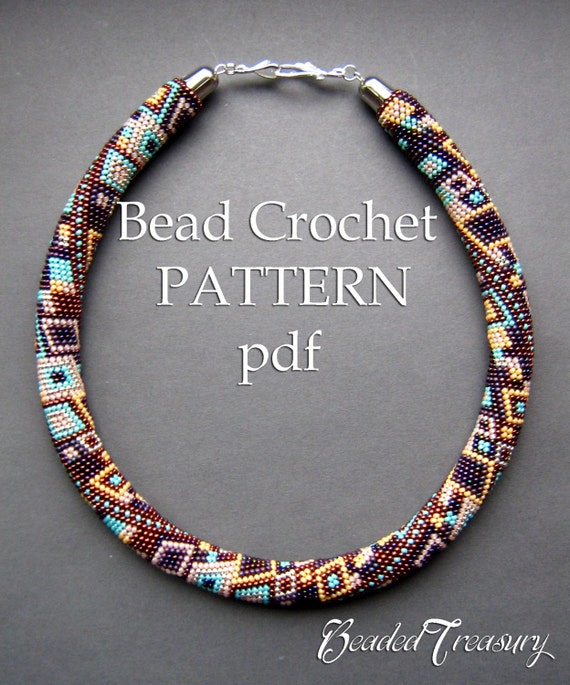 Skyscraper Bead Crochet Pattern Seed Bead Necklace Beaded Etsy