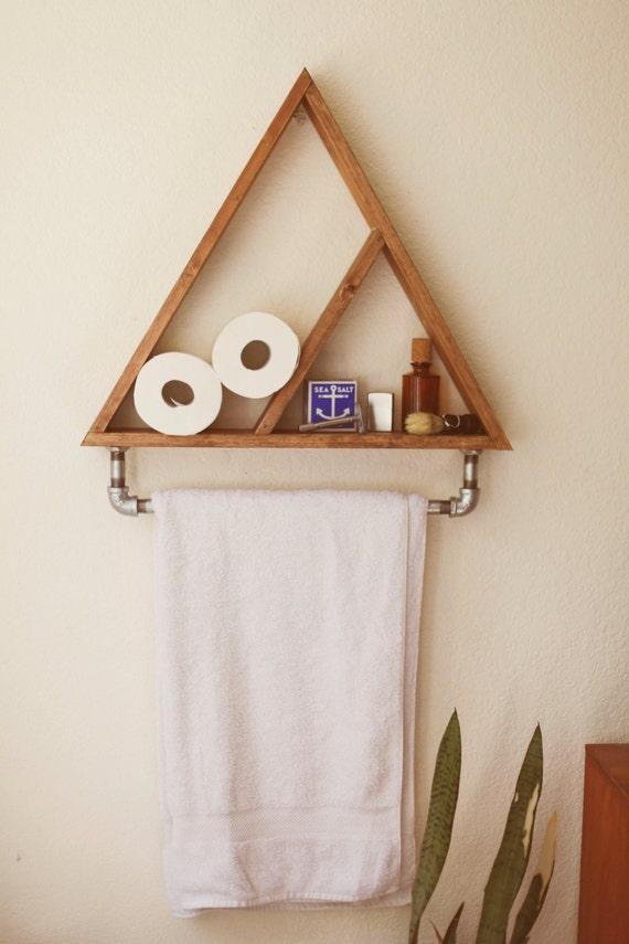 Bathroom Shelf. Towel Holder. Triangle Shelf. Geometric Shelf. | Etsy
