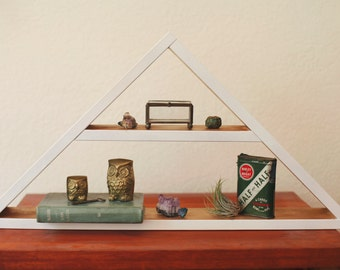Triangle Shelf. Geometric Shelf. Modern Shelf. Bohemian Shelf. Display Shelf.