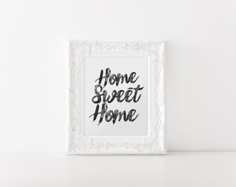 Home Sweet Home digital wall art, wall art, digital print, printable.