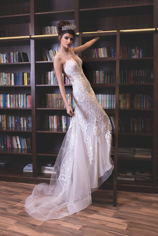 Land rustikale Brautkleid niedrige Taille Mantel weißen