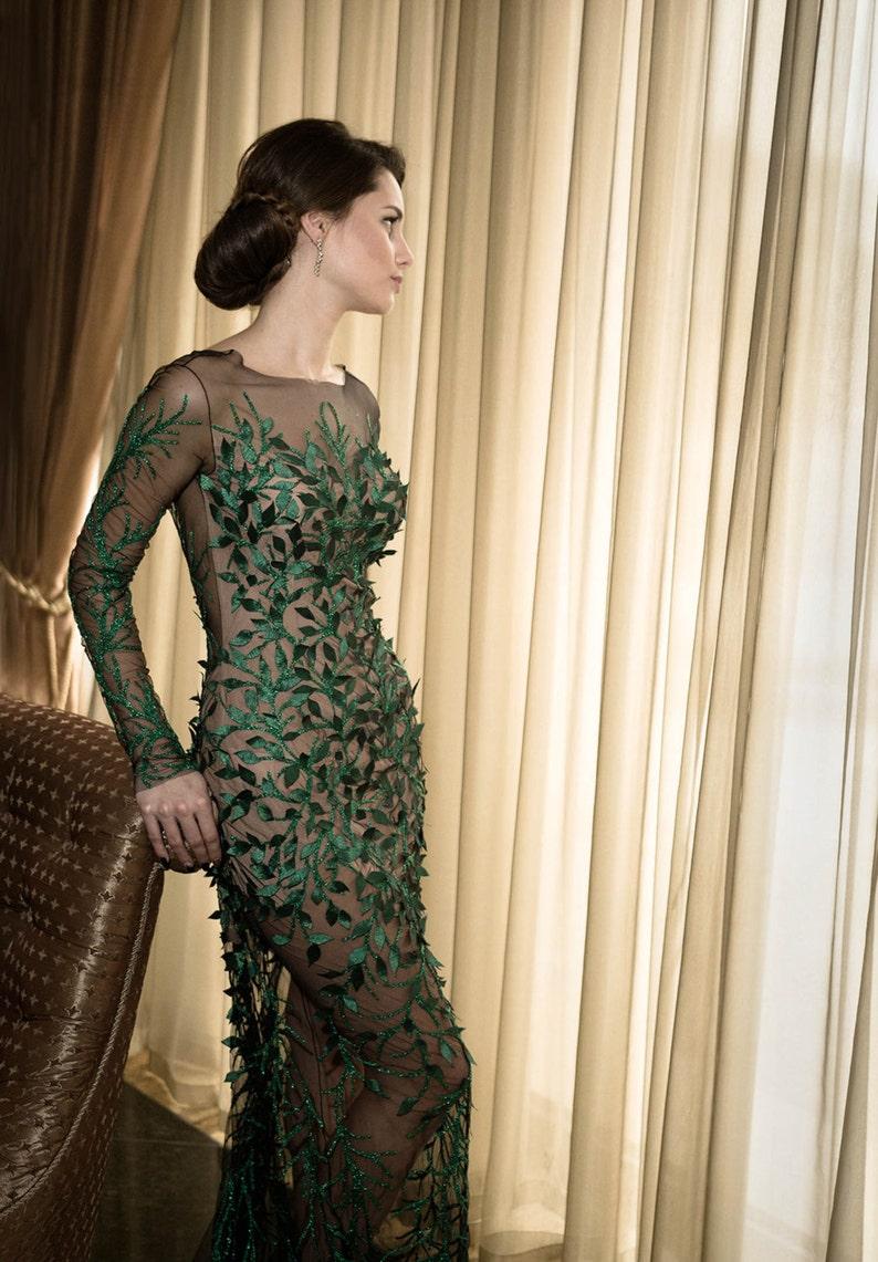 7c5cfd8fc1b Robe formelle vert longue robe de cocktail mère de la robe