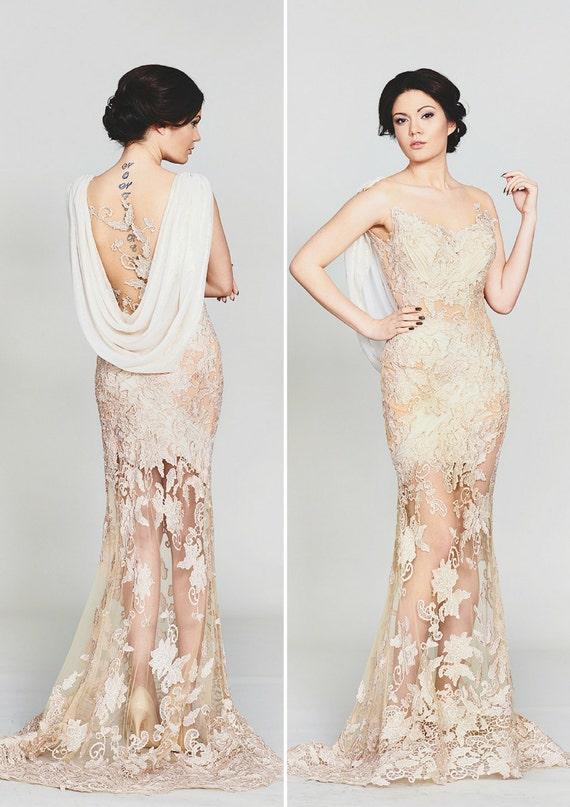 Goldene Hochzeit Kleid Sexy Moderne Brautkleid Boho Custom Brautkleid Mit Floralen Details Chic Brautkleid Aus Tüll