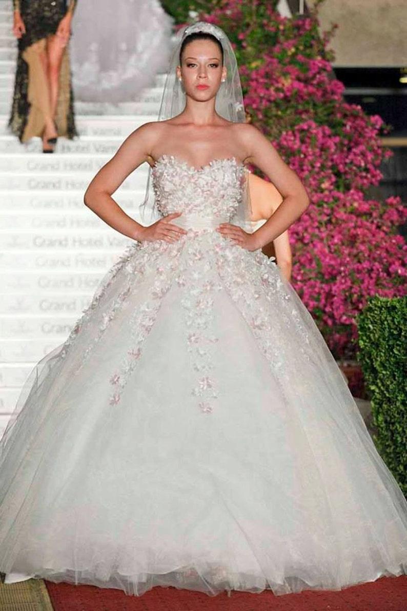 7b3cdcbc0e6 Wedding Ball gown Fairy bridal Dress in white Long Bridal