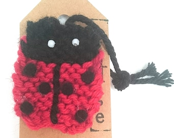 Ladybird pin badge, ladybird badge, ladybird accessory, ladybird gift, pin badge, ladybird broach, gift for her