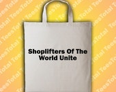 Shoplifters of the world Unite Tote Bag | Morrissey | The Smiths | Johnny Marr