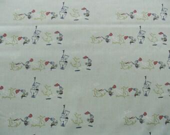 """0,5 m Organic printed fabric Cotton Kissa Poplin """"Knight""""160 cm w GOTS"""