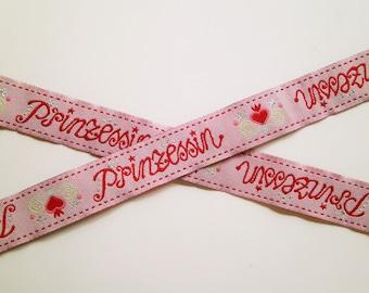 1 m Woven Ribbon Princess 15 mm Design Jolijou.de