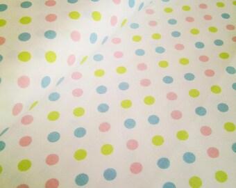 "0,5 m Organic printed fabric Cotton  Poplin ""Colorful Dots"" 160 cm w GOTS"