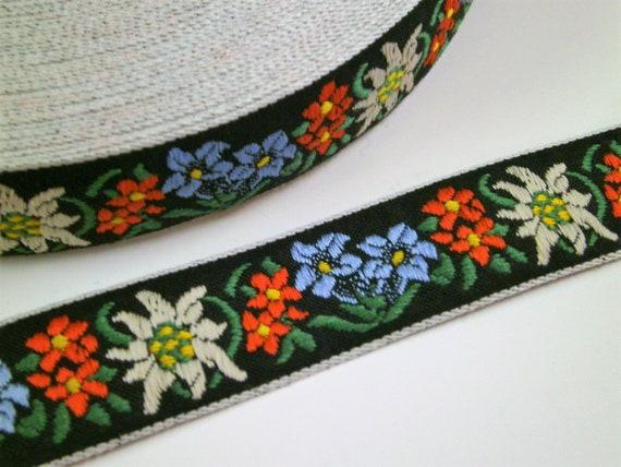 1 m Woven Ribbon Brokat Rose 96 /% cotton 50 mm w Dirndl Oktoberfest bavaria