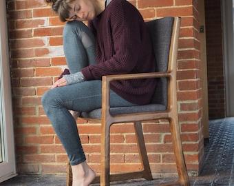 English Walnut Arc chair