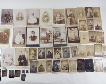 Carte De Visite Tintype CDV Antique Photos Lot