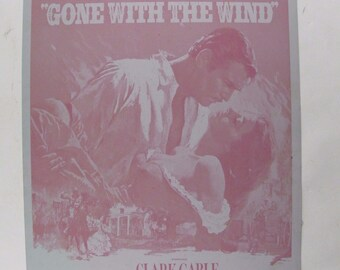 Gone With The Wind GWTW 1976 Poster M061 Offset Printers Lithograph Plate Portal Publications