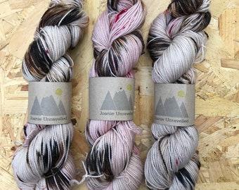 Leopard - 100g skein Hand Dyed Sock Yarn - Twist & Shout Base - 80/20 Superwash Merino/Nylon
