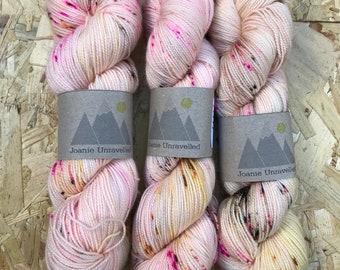 The Lady is a Tramp - 100g skein Hand Dyed Sock Yarn - Twist & Shout Base - 80/20 Superwash Merino/Nylon