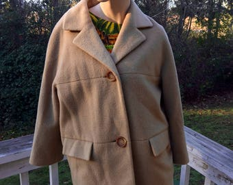 50s 60s Camel Hair Cottage Chic Kitschy Cropped Pant Jacket Coat Country  Cottage Western 583b1ad97