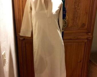 f09ecc8e178 WINTER SALE Minimalist Cream Tunic Shirt Dress Asian Mandarin Collar  Oriental Zen Dress XS S