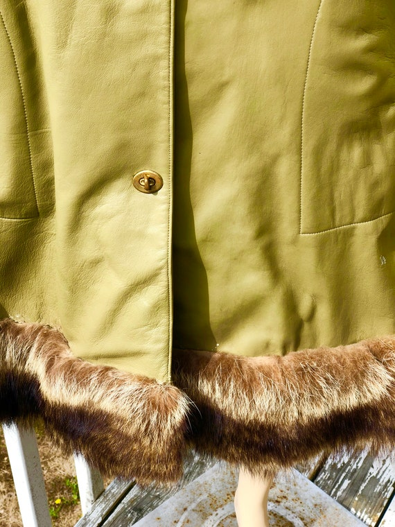 Mod 60s Olive Green Bonnie Cashin Sills NY Leathe… - image 4