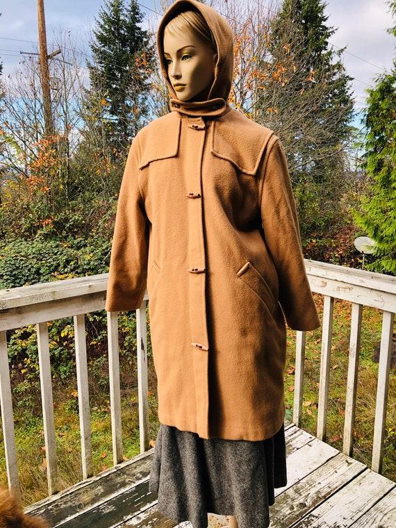 Vintage Brown LLBean Hooded Coat