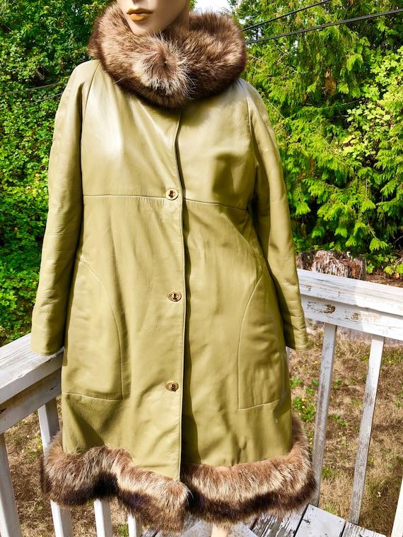 Mod 60s Olive Green Bonnie Cashin Sills NY Leathe… - image 1