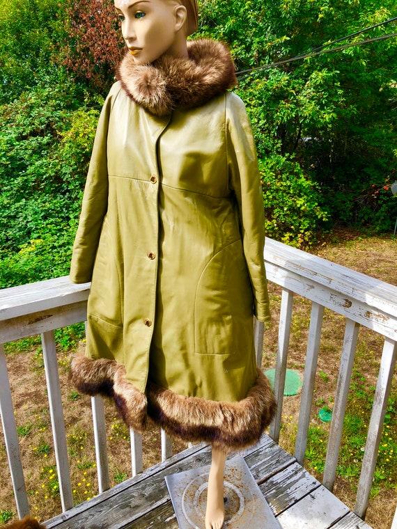 Mod 60s Olive Green Bonnie Cashin Sills NY Leathe… - image 2