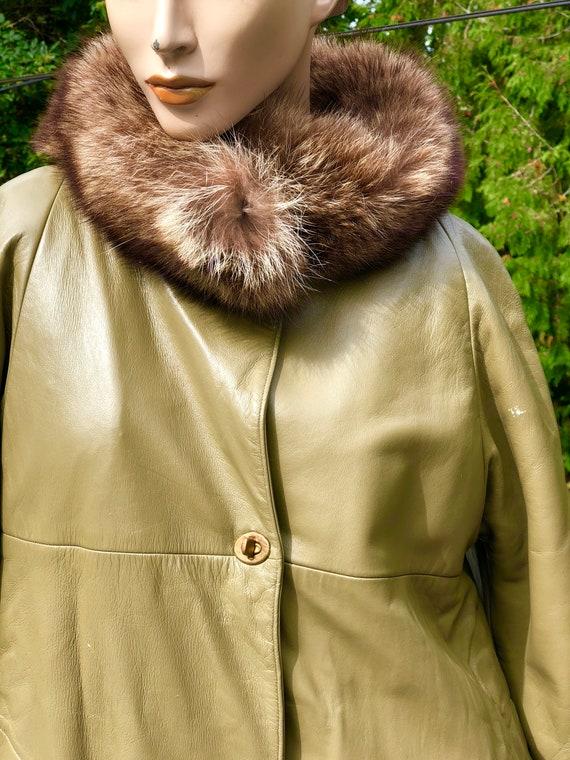 Mod 60s Olive Green Bonnie Cashin Sills NY Leathe… - image 3