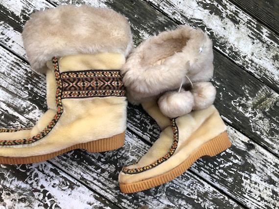 Shearling Inuit Eskimo VTG Professional Penneys Su