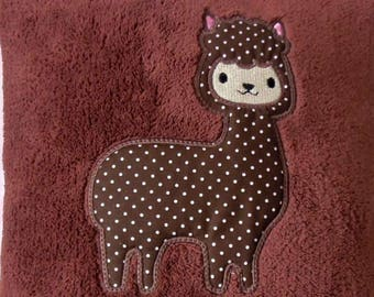 Alpaca Applique Machine Embroidery Design.  Llama applique design. Instant download. 4x4 hoop friendly, multisizes. Cute alpaca applique.