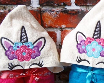 Hooded Towel Embroidery Design Etsy