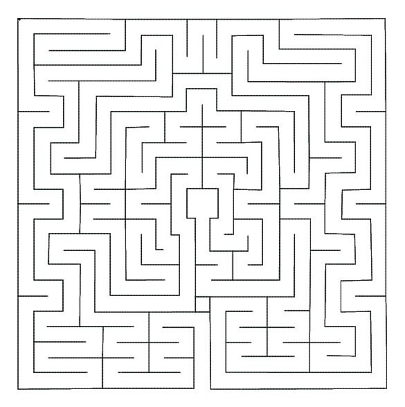 Labyrinth machine embroidery design  Christian Quilt Labyrinth Square   Square labyrinth embroidery design in multiple sizes Maze embroidery