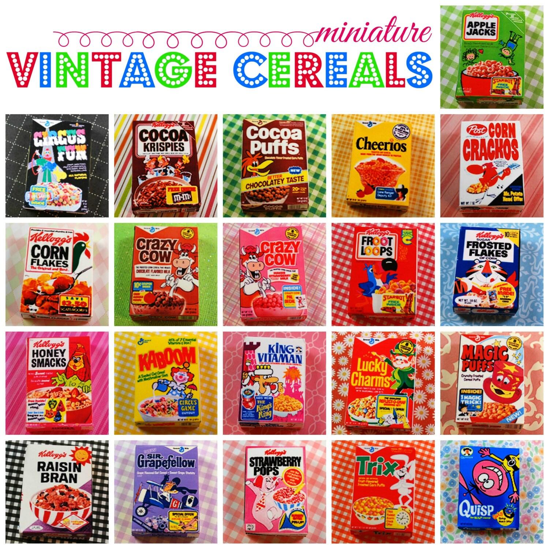 Miniature Retro Breakfast Cereal Box Playscale 1:6 Scale
