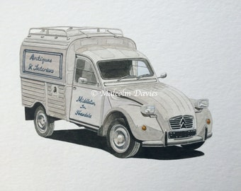 Commission an Original Watercolour Painting of your vehicle by Malcolm Davies