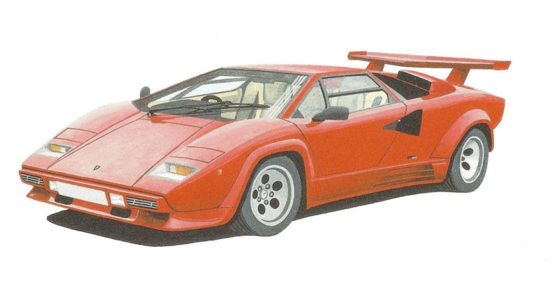 Limited Edition Print Lamborghini Countach From An Original Etsy
