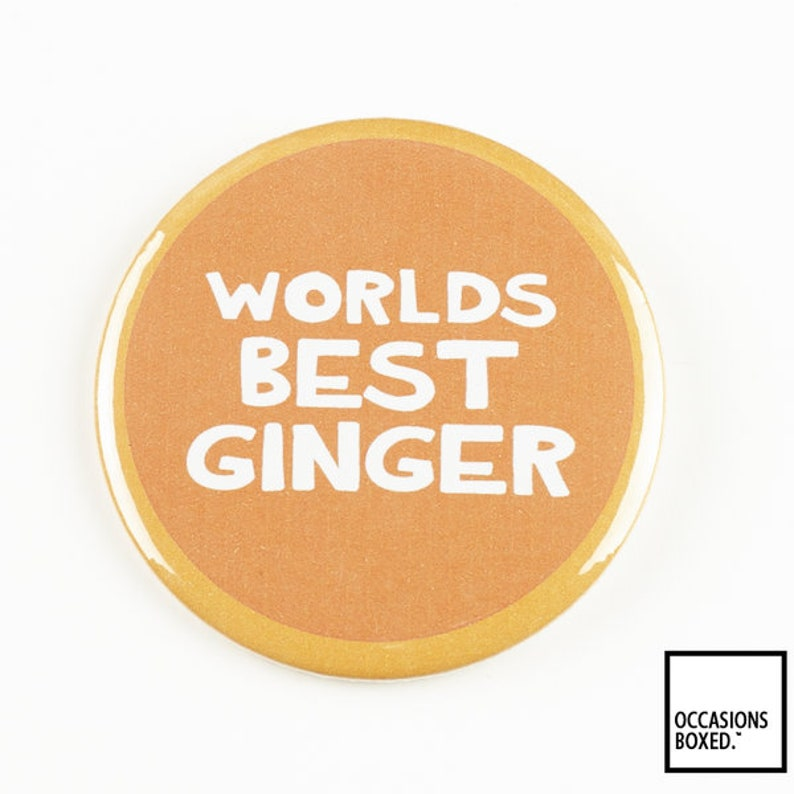i love gingers badge