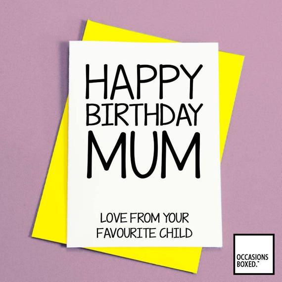 Joyeux Anniversaire Maman De Votre Enfant Prefere Carte Pour Etsy