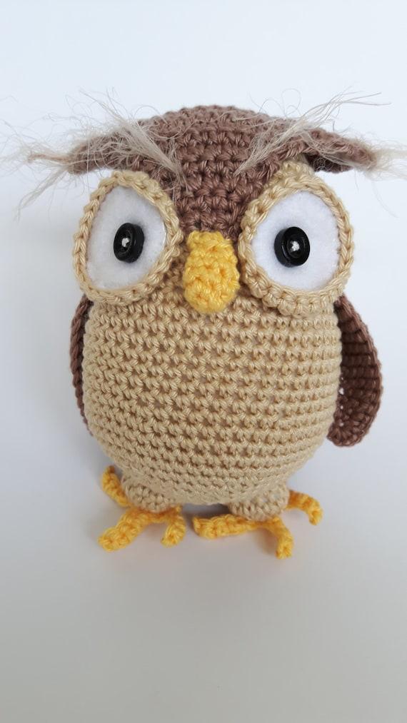 Eule-Henriette Amigurumi Owl gehäkelt Eule Eule Stofftier   Etsy