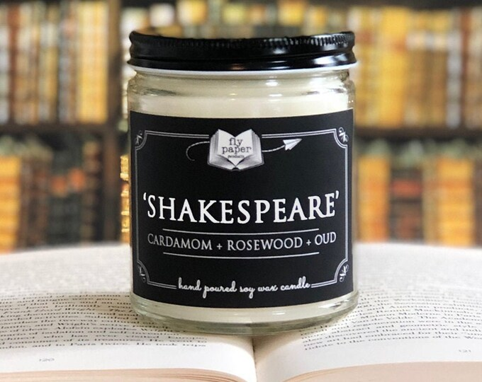 Shakespeare - 9oz Handpoured Soy Candle