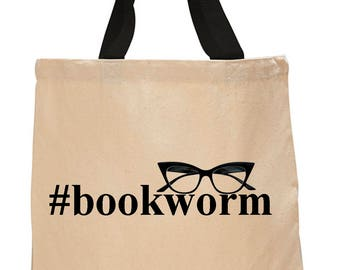 Bookworm-Cotton Canvas Tote Bag