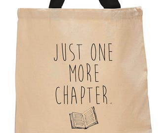 Just One More Chapter-Cotton Canvas Tote Bag
