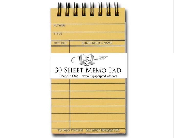 Assorted Vintage Library Card Memo Pad