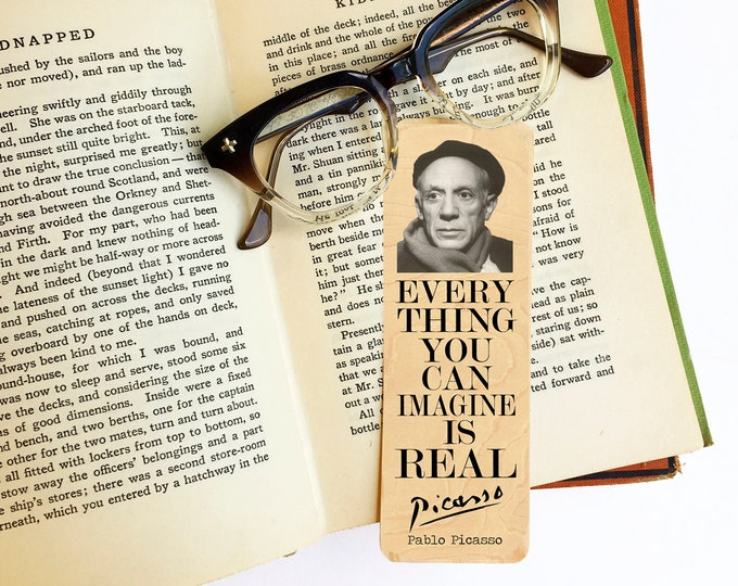 Pablo Picasso Bookmark- Birch Wood Bookmark - Eco Friendly - Artist Gift - Gifts for Art Lovers - Classic Artist -Made in Michigan