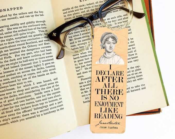 Jane Austen Bookmark - Eco Friendly - Literary Gift - Gifts for Book Lovers - Female Author - Sense and Sensibility - Pride and Prejudice